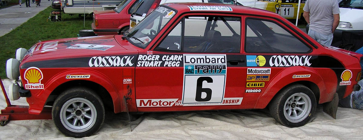The winning Ford Escort MKII of Roger Clark in the 1977 RAC rally