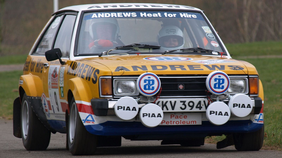 The third Talbot Sunbeam Lotus in the 1980 RAC, the private car of Russell Brookes, in action 28 years later at 2008 Race Retro