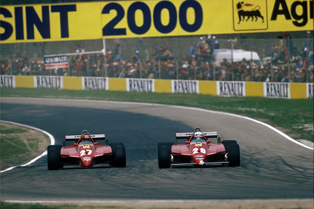 The turbo engined cars were the favourites in 1982 but a series of mechanical problems and unfortunate accidents sealed the fate of the championship even though Ferrari ended up winning the Constructors title with its supercharged 126C2