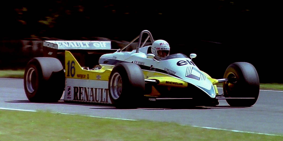 The Renault RE30 turbo of Prost and Arnoux (in the picture) were always fast but they lacked reliability