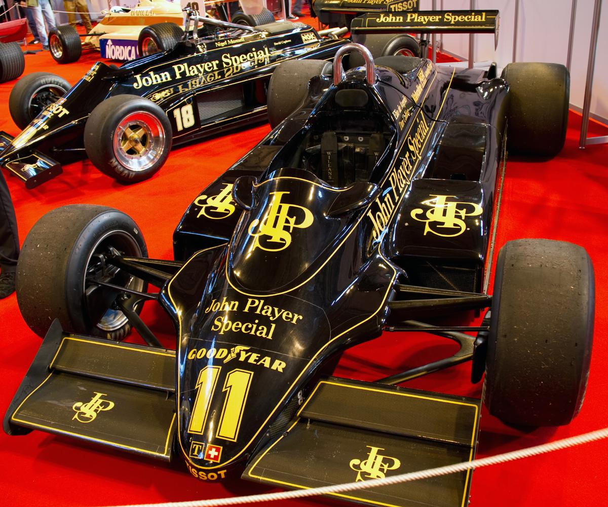 The Lotus 91 Cosworth driven by Elio De Angelis in 1982